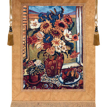 Sunflowers At Window Tapestry Wall Hanging
