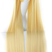"MapofBeauty 40"" 100cm Anime Costume Long Straight Cosplay Wig Party Wig (Blonde)"