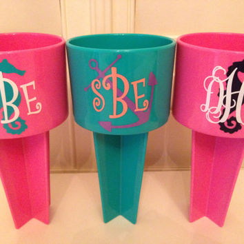 Monogrammed Spiker perfect for your next beach trip or camping trip!