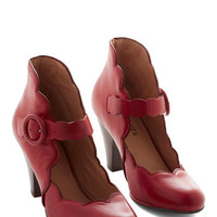 Miz Mooz Vintage Inspired Day Train Heel in Crimson