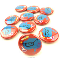 *NEW* - Brain Chemistry Buttons - Set of 10