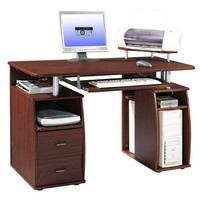 Techni Mobili Dual Pedestal Computer Desk in Different Colors