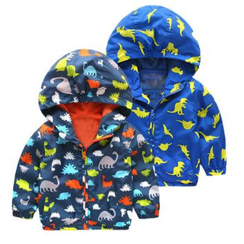 pudcoco autumn spring 2-7Y Children kids children Boy girl hoodies Waterproof Jackets Kid Windproof Zip Rain Hooded Coat Clothes