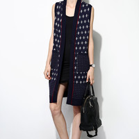 Patterned Knit Vest OU0048