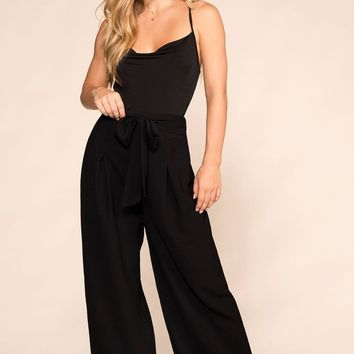 Bet On It Black Wide Leg Pants