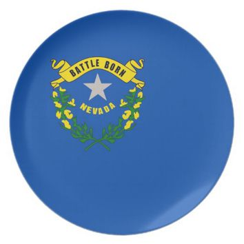 Nevada State Flag Plate
