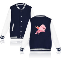 2016 hot Cartoon Funny STEVEN UNIVERSE Designs Baseball Jacket Women Jacket in Sugar Life Adventure Crystal Coat Women XXS-4XL