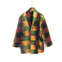 vintage southwestern blanket coat / Indian Blanket coat / Seppe wool jacket
