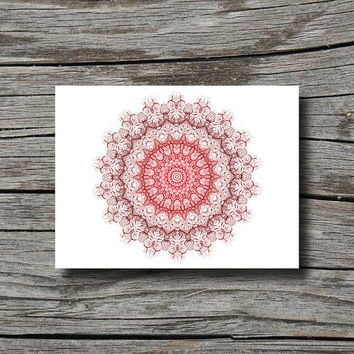 Dark red maroon geometric decor, boho bohemian decor, yoga decor, mandala art print, home decor wall art, dorm poster, office decor, bedroom