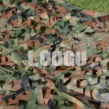LOOGU EM 1.5M*3M Green Woodland Camo Netting Hunting Blinds Car Cover Sunshade Camoflage Netting Paintball Games Camo Net