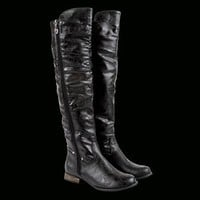 Ladies Barrio Flat Boot at Iron Fist International INC. in BLACK