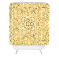 Lisa Argyropoulos Cassy Neutral Tones Shower Curtain