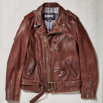 "Schott NYC - Perfecto"" moto  Vintaged Leather Jacket 626Vn made in USA"