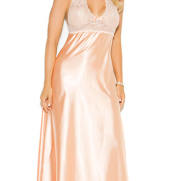 Plus Size Peaches and Cream Long Gown