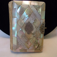 Art Deco Catholic Prayer Book Key of Heaven 1926 Czechoslovakia Mother of Pearl