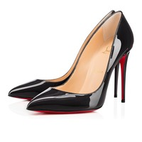 Pigalle Follies 100 Fusain Patent Leather - Women Shoes - Christian Louboutin