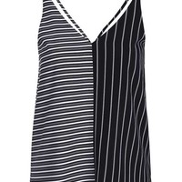 Mix Stripe Double Strap Cami