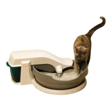 CAT LITTER PANS & ACCESSORIES - SIMPLY CLEAN SELF CLEAN LITTERBOX - 1 COUNT - RADIO SYSTEMS CORP. (PET SAFE) - UPC: 729849107861 - DEPT: CAT PRODUCTS