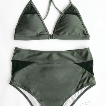 Cupshe Surprise Me High-waisted Bikini Set