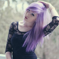 "12"" Pastel Purple Lavender Clip In Human Hair Extensions"