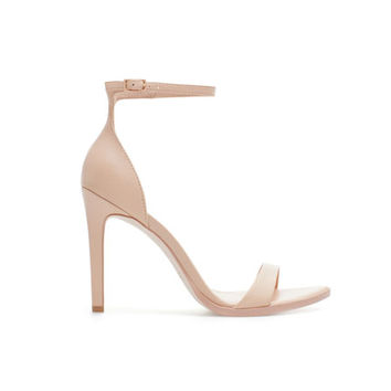 LEATHER SANDAL - Heeled sandals - Shoes - Woman | ZARA United States