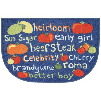 Food Network Tomato Variety Rug - 20'' x 30'' (Retro)