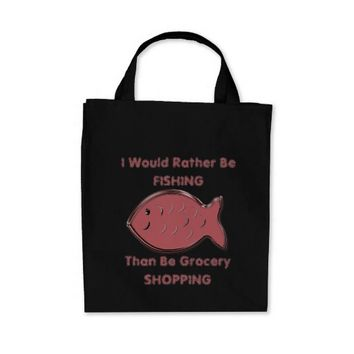 Blush Fish I Would Rather Be Tote Bag