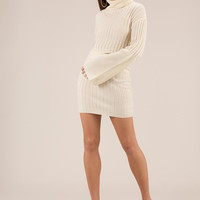 Sweater Weather Turtleneck And Skirt Set