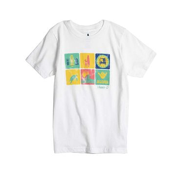 Youth Aloha T-Shirt in White by Johnnie-O