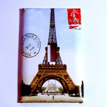 Light Switch Cover - Light Switch Plate Paris France Eiffel Tower Vintage Postcard