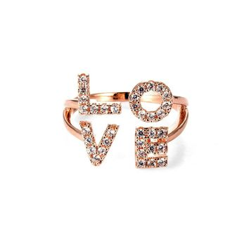 Charming Love Initials Ring