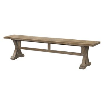 Stratford Rustic Salvaged Wood Bench by Uttermost