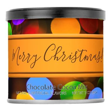 Multicolored Christmas lights. Add text or name. Hot Chocolate Drink Mix