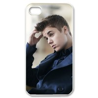 Cool Justin Bieber Custom Case for iPhone 4 4s Hard Cover Fits Case iPhone 4s Case CC873