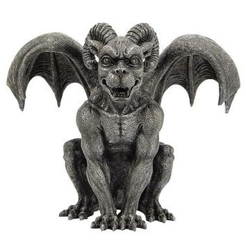 Gargoyle Ram Horned with Wings Figurine 7.5H