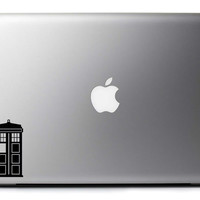 TARDIS From Doctor Who Vinyl Decal Laptop Macbook Wall & Car Art : Skin Sticker with Free Shipping