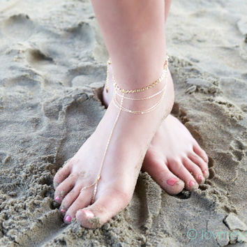 Shiny Gift Jewelry Sexy Ladies Cute New Arrival Fashion Accessory Stylish Strong Character Simple Tassels Beach Anklet [6768774407]