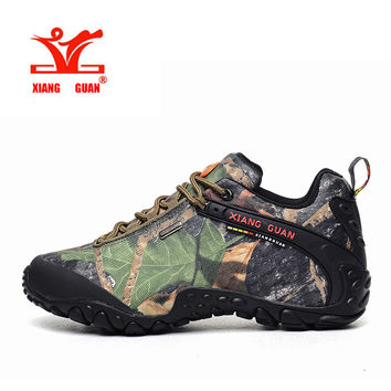 XIANG GUAN Waterproof Hiking Shoes Men Camo Climbing Sneaker Women Camouflage Boot Plus Big Size Euro 46 47 48 Us 12 13 14 15