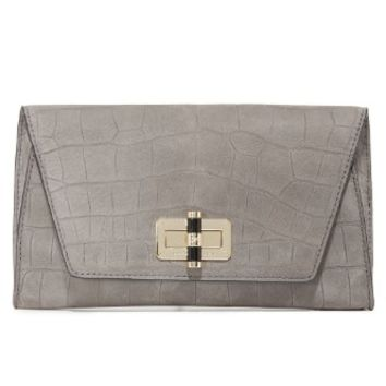 440 Croc Embossed Gallery Uptown Clutch