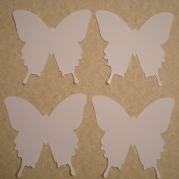 Large White Butterfly die cuts-Butterfly Punch, Paper Butterfly, Butterfly Decorations,Wedding Die Cuts-set of 12, Large 3 inch size