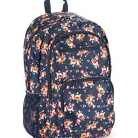 Aeropostale Roses Nylon Backpack - Midnight Navy, One