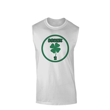 Drunk 2 Funny Muscle Shirt  by TooLoud