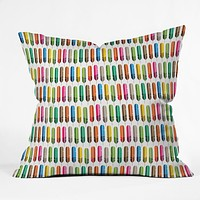 Raven Jumpo Rainbow Feathers Throw Pillow