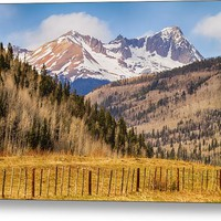 Through The Valley Up The Mountain Metal Print