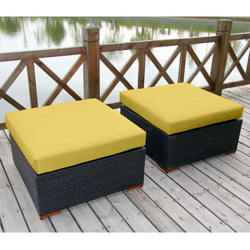 Coral Gables 2 Patio Ottomans Multiple Colors