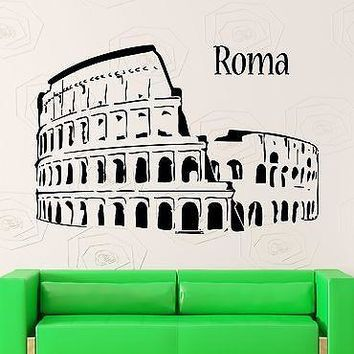 Wall Stickers Vinyl Decal Amphitheatre Colosseum Rome Italy Tourism Unique Gift (ig966)