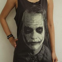 Joker T-Shirt Joker Heath Ledger Batman women tank top vest from sabinashop