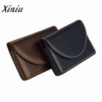 Mens Card For Business Mens Credit Card holder Package Pu Leather Card Case#XYJ