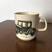 "Vintage 1960s Johnson of Australia Coffee Mug ""1920 Rover Eight"" / Tea Cup / Made in Australia / Stoneware"