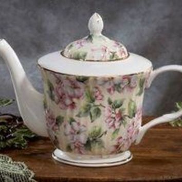 Rare Royal Patrician Bone China Dogwood Pattern Teapot - Only One Available!